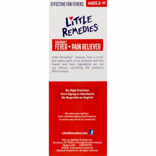 Little Fevers Grape Children's Fever & Pain Reliever Medicine Perspective: right