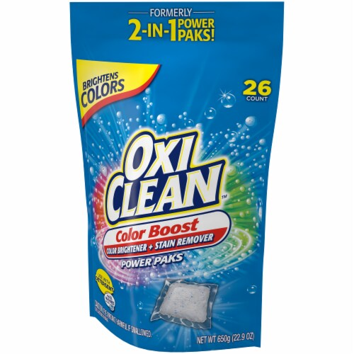 OxiClean Color Boost Color Brightener + Stain Remover Power Paks Perspective: right