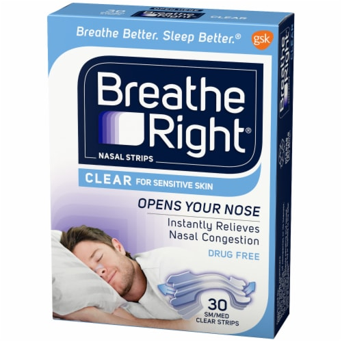Breathe Right Clear S/M Nasal Strips Perspective: right