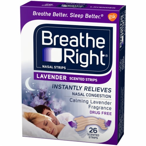 Breathe Right Lavender Scented Nasal Strips Perspective: right