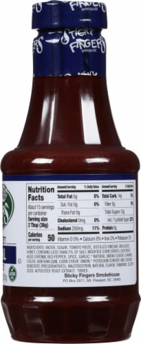 Sticky Fingers Carolina Sweet Barbecue Sauce Perspective: right