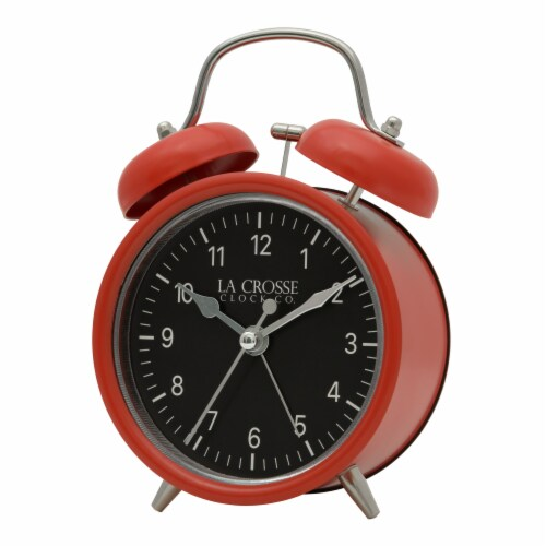La Crosse Technology Twin Bell Alarm Clock - Red Perspective: right