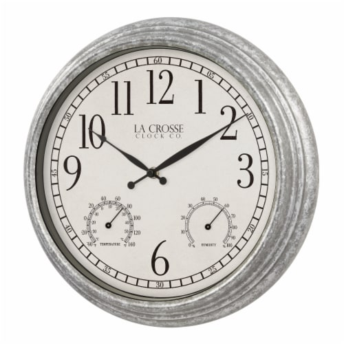 La Crosse Technology Silas Indoor/Outdoor Wall Clock Perspective: right