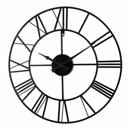 La Crosse Technology Wrought Iron Wall Clock - Black Perspective: right