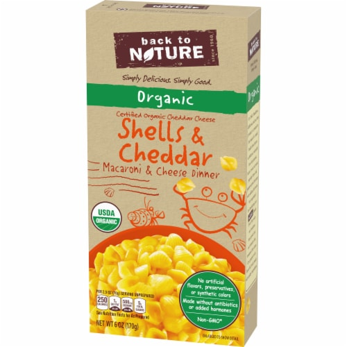 Back to Nature Organic Shells & Cheddar Cheese Dinner Perspective: right