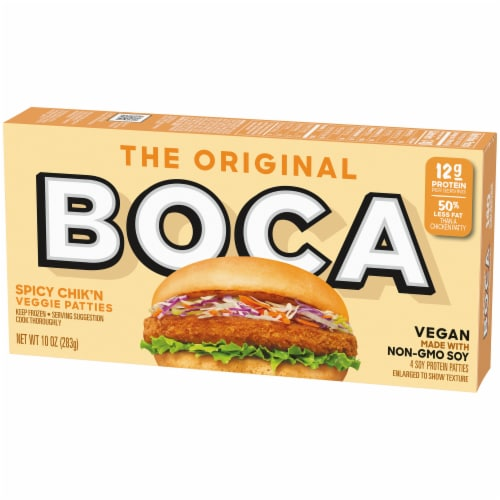 Boca Original Spicy Chick'n Veggie Patties Perspective: right