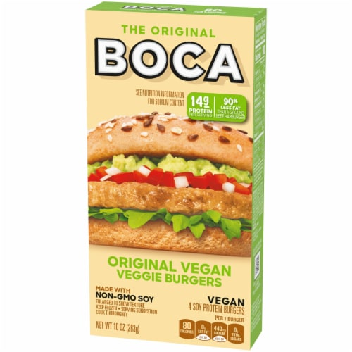Boca Original Vegan Veggie Burgers Perspective: right