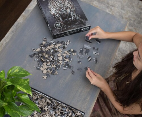 Game Of Thrones Puzzle The Iron Throne 1000 Piece Jigsaw Puzzle | Ages 15 & Up Perspective: right