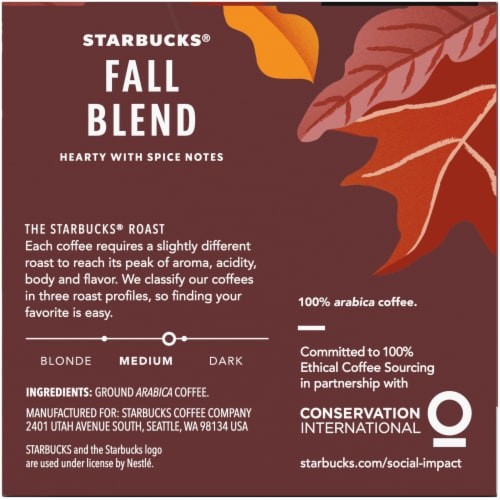 Starbucks® Fall Blend Medium Roast Coffee K-Cup Pods Perspective: right