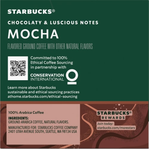Starbucks Mocha Flavored Ground Coffee K-Cup Pods Perspective: right