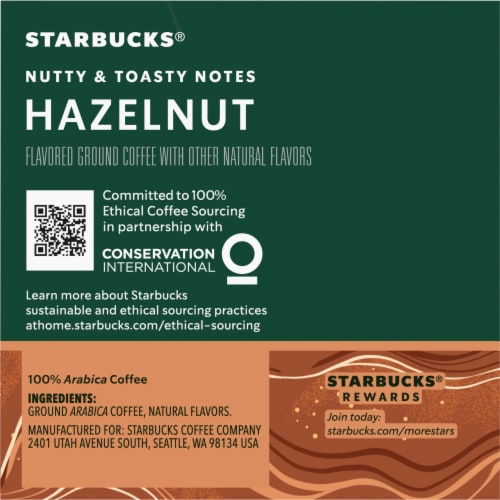Starbucks Hazelnut Coffee K-Cup Pods Perspective: right