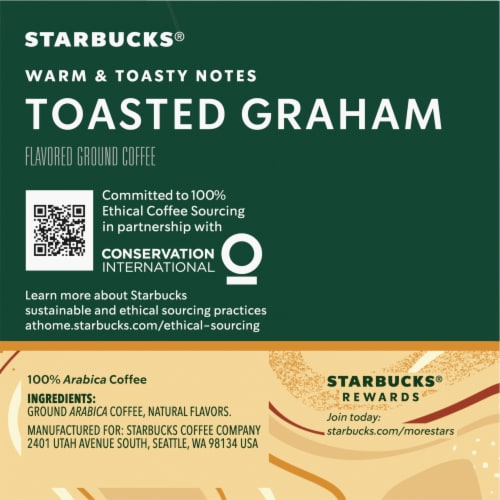 Starbucks Toasted Graham Ground Coffee K-Cup Pods Perspective: right