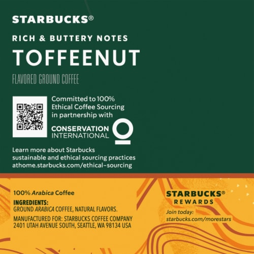 Starbucks Toffeenut Ground Coffee K-Cup Pods Perspective: right