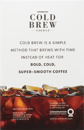 Starbucks Cold Brew Black Ground Coffee Perspective: right