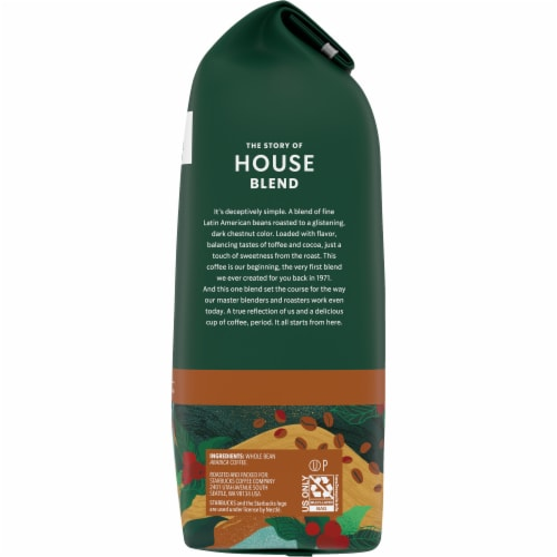 Starbucks House Blend Medium Roast Whole Bean Coffee Perspective: right