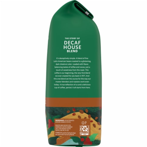 Starbucks Decaf House Blend Medium Roast Ground Coffee Perspective: right