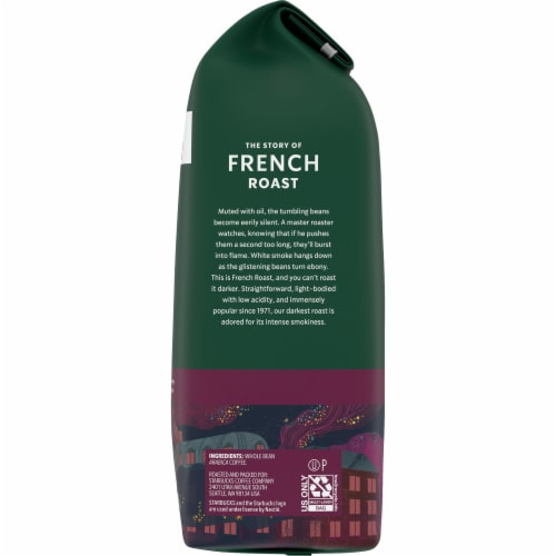 Starbucks French Dark Roast Whole Bean Coffee Perspective: right