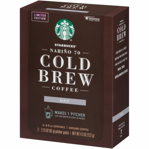 Starbucks Cold Brew Ground Coffee Pitcher Packs Perspective: right