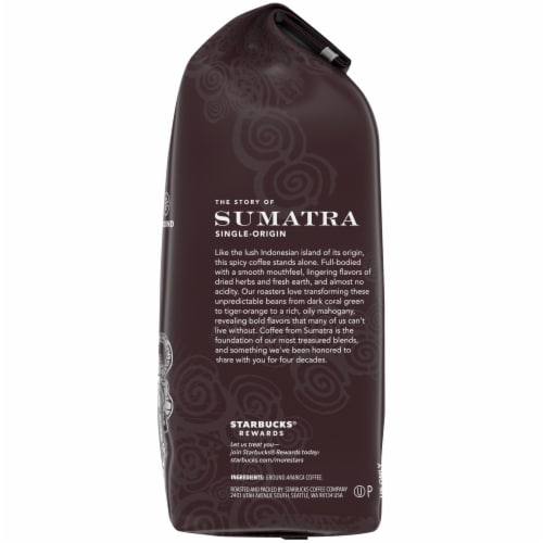 Starbucks Sumatra Dark Roast Ground Coffee Perspective: right