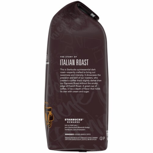 Starbucks Italian Dark Roast Ground Coffee Perspective: right