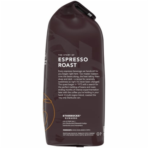 Starbucks Espresso Dark Roast Whole Bean Coffee Perspective: right