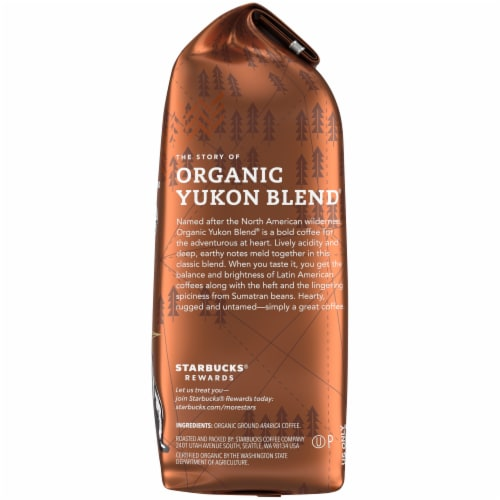 Starbucks Organic Yukon Blend Medium Roast Ground Coffee Perspective: right