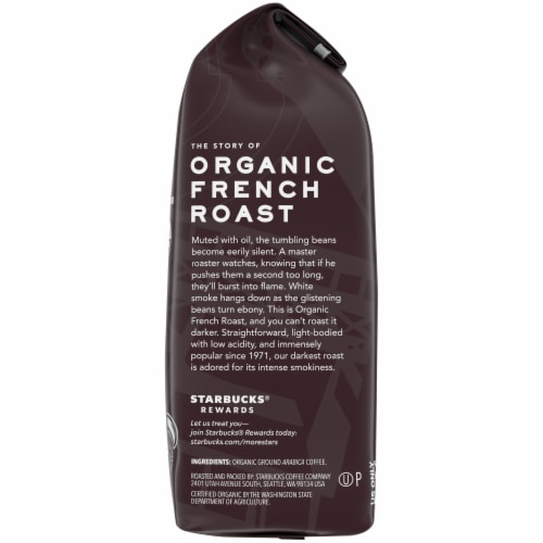 Starbucks Organic French Roast Ground Coffee Perspective: right