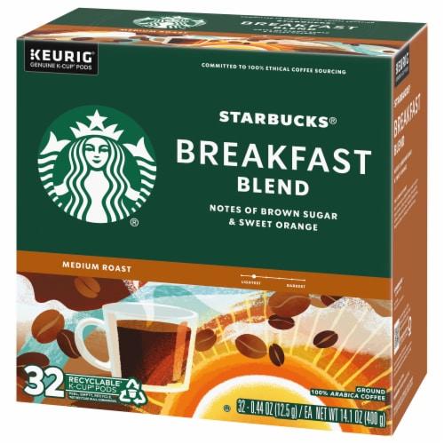 Starbucks Breakfast Blend Medium Roast Ground Coffee K-Cup Pods Perspective: right
