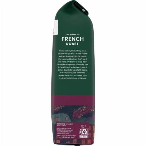 Starbucks French Roast Whole Bean Coffee Perspective: right