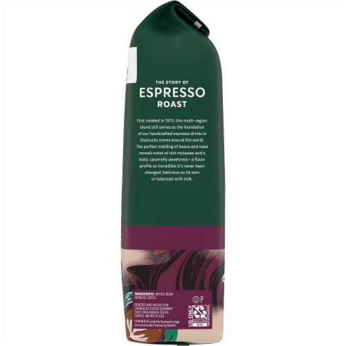 Starbucks Espresso Roast Whole Bean Coffee Perspective: right