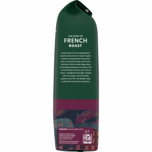 Starbucks French Roast Dark Roast Ground Coffee Perspective: right