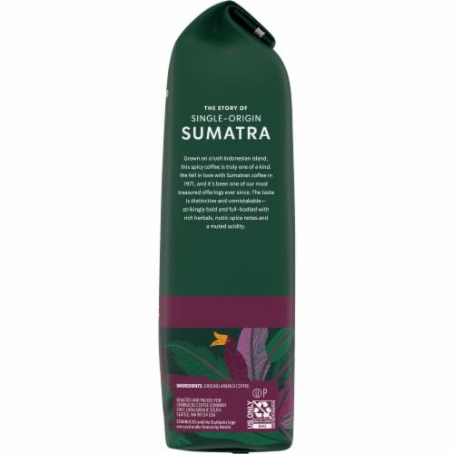 Starbucks Sumatra Dark Roast Ground Coffee Perspective: right