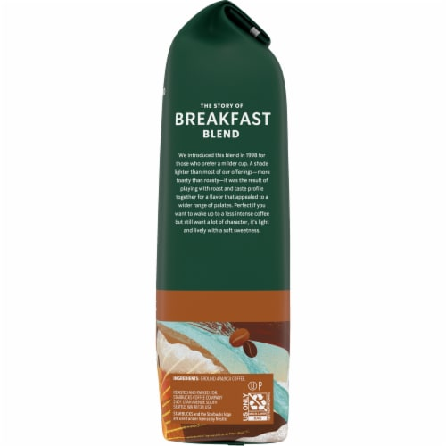 Starbucks Breakfast Blend Medium Roast Ground Coffee Perspective: right