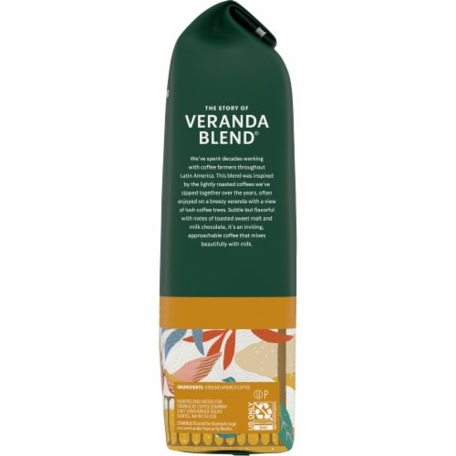 Starbucks Blonde Roast Veranda Blend Ground Coffee Perspective: right