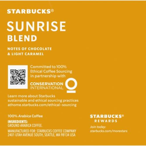 Starbucks Blonde Sunrise Blend K-Cup Pods Perspective: right