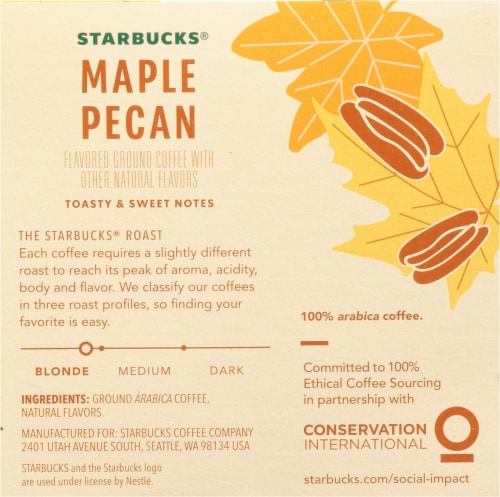 Starbucks® Maple Pecan Ground Coffee K-Cup Pods Perspective: right