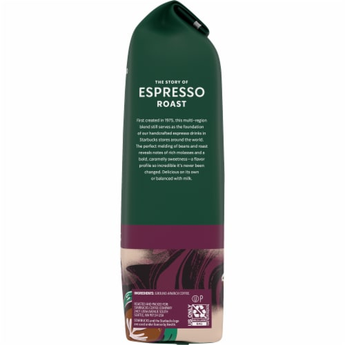 Starbucks Espresso Roast Ground Coffee Perspective: right