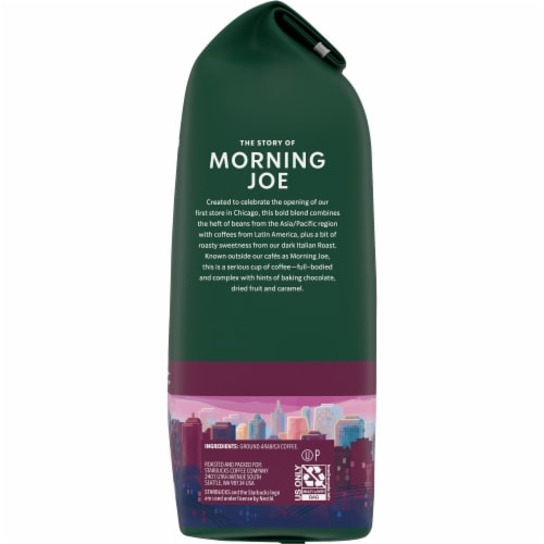 Starbucks Morning Joe Dark Roast Ground Coffee Perspective: right