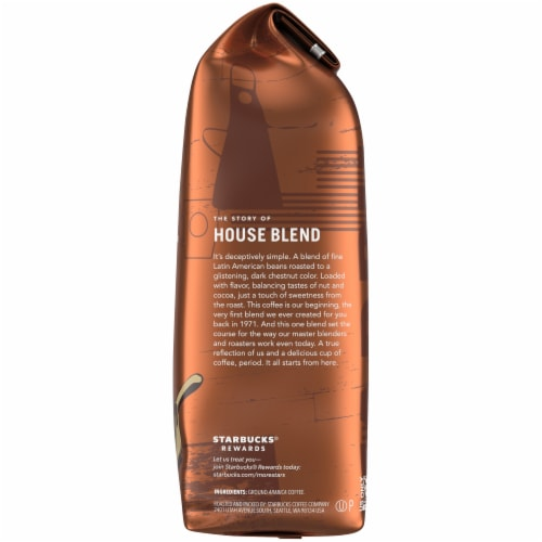 Starbucks House Blend Medium Roast Ground Coffee Perspective: right