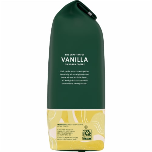 Starbucks Vanilla Flavored Ground Coffee Perspective: right