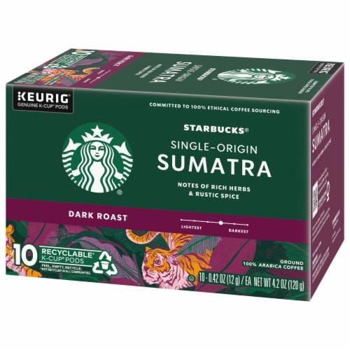 Starbucks Sumatra Dark Roast Coffee K-Cup Pods Perspective: right