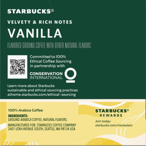 Starbucks Vanilla Flavored Coffee K-Cup Pods Perspective: right