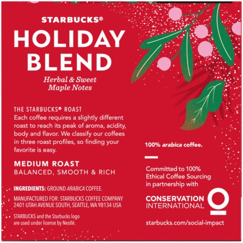 Starbucks Holiday Blend Medium Roast Coffee K-Cup Pods Perspective: right