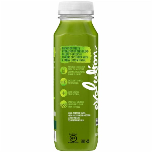 Evolution Fresh Organic Green Devotion Cold-Pressed Juice Blend Perspective: right
