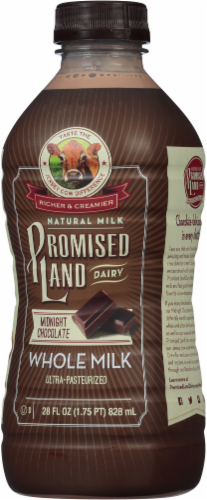 Promised Land Dairy Midnight Chocolate Ultra-Pasteurized Whole Milk Perspective: right
