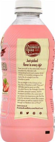Promised Land Dairy Very Berry Strawberry Whole Milk Perspective: right