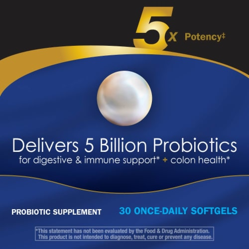 Enzymatic Therapy Probiotic Pearls Elite Dietary Supplement Capsules Perspective: right