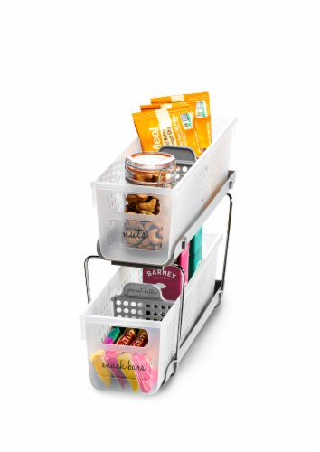Madesmart Mini Two-Tier Organize with Dividers Perspective: right