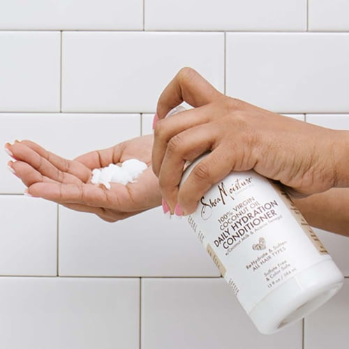 Shea Moisture Virgin Coconut Oil Daily Hydration Conditioner Perspective: right