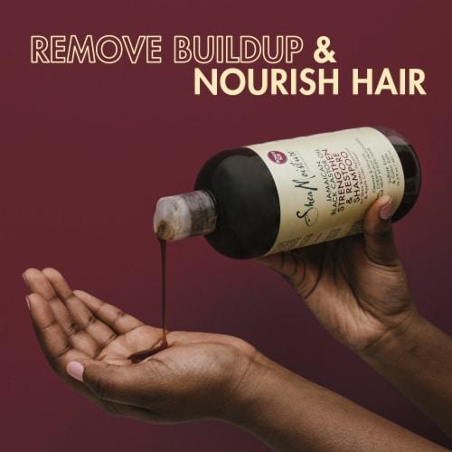 Shea Moisture Jamaican Black Castor Oil Strengthen Grow & Restore Shampoo Perspective: right